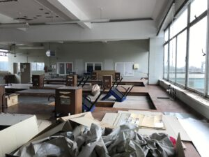 Before: Upper level of the laboratory